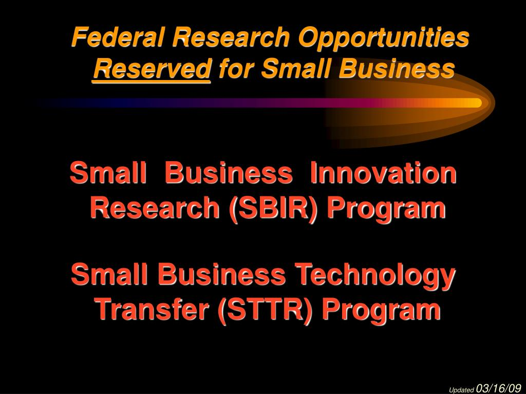 Federal Research Opportunities