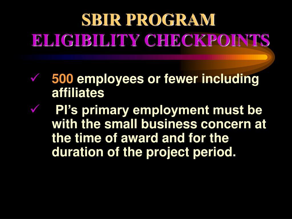 SBIR PROGRAM