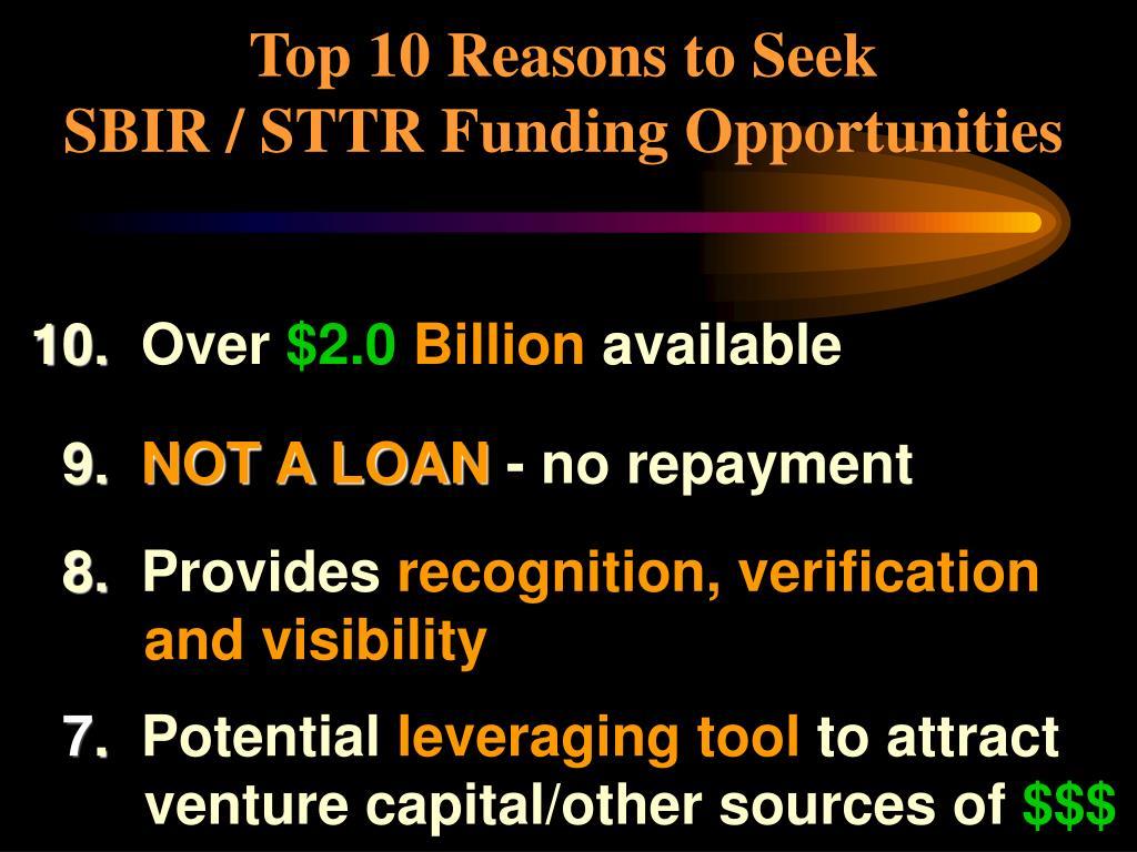 Top 10 Reasons to Seek