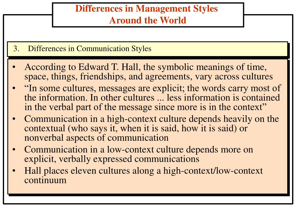 According to Edward T. Hall, the symbolic meanings of time, space, things, friendships, and agreements, vary across cultures