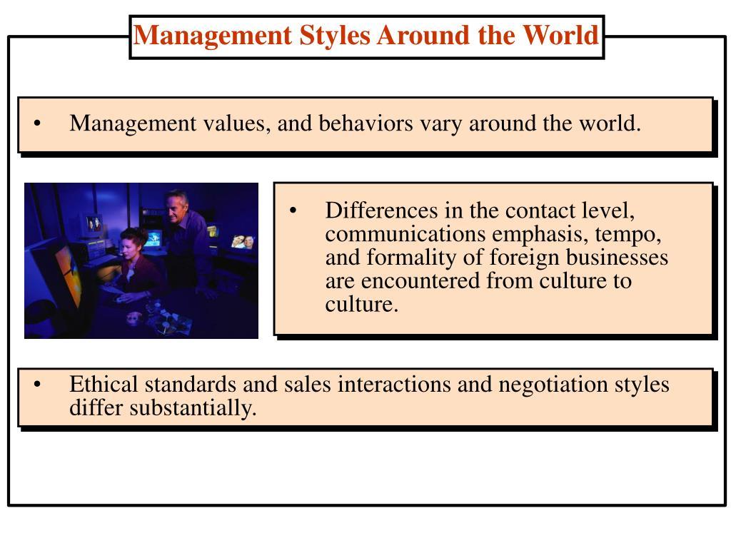 Management Styles Around the World