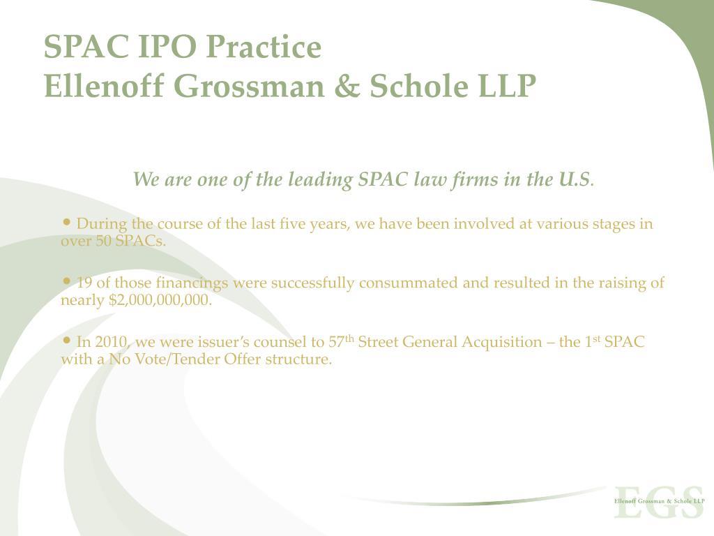 SPAC IPO Practice