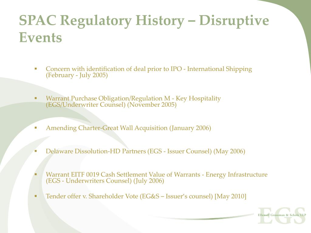 SPAC Regulatory History