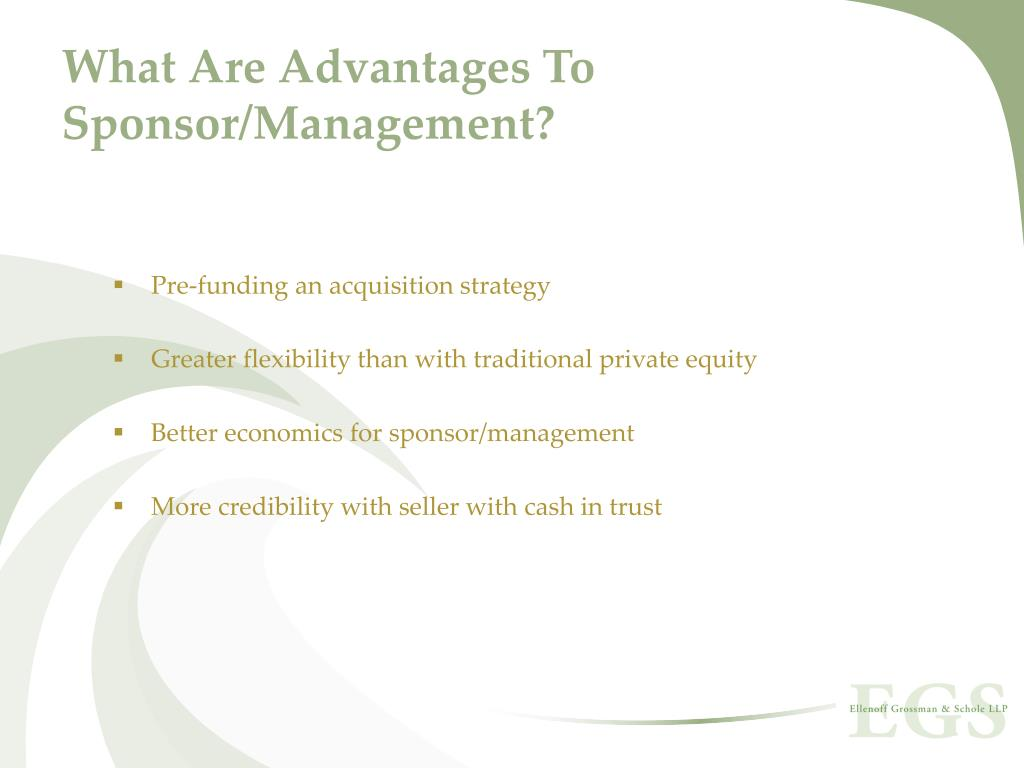 What Are Advantages To Sponsor/Management?