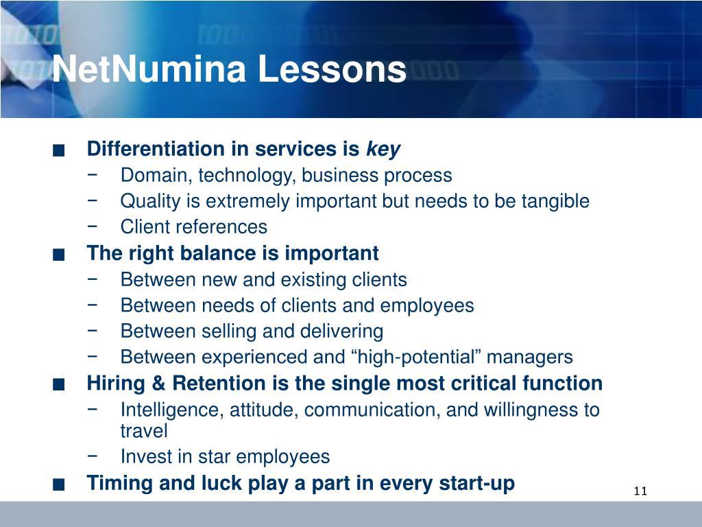 NetNumina Lessons