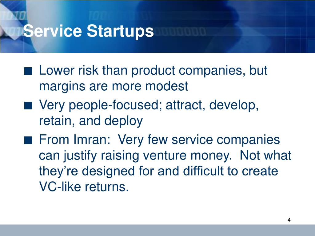 Service Startups