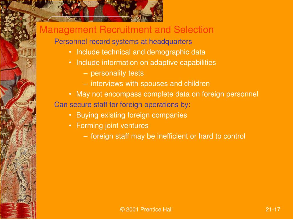 Management Recruitment and Selection