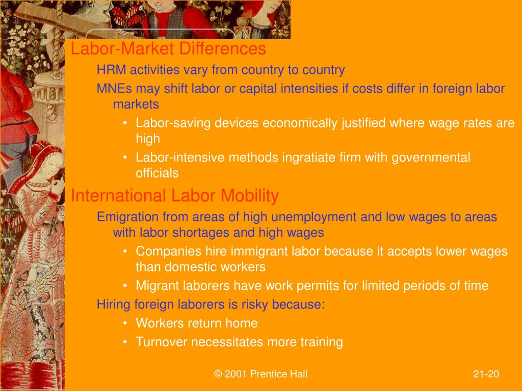Labor-Market Differences