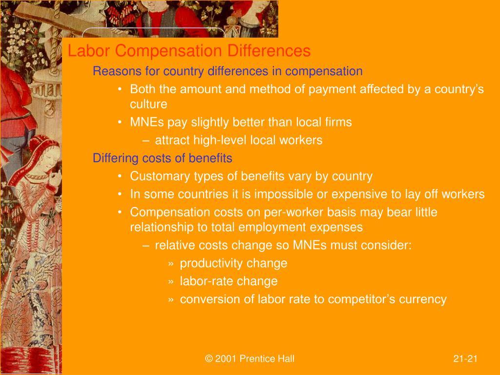 Labor Compensation Differences