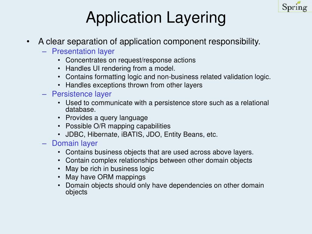 Application Layering