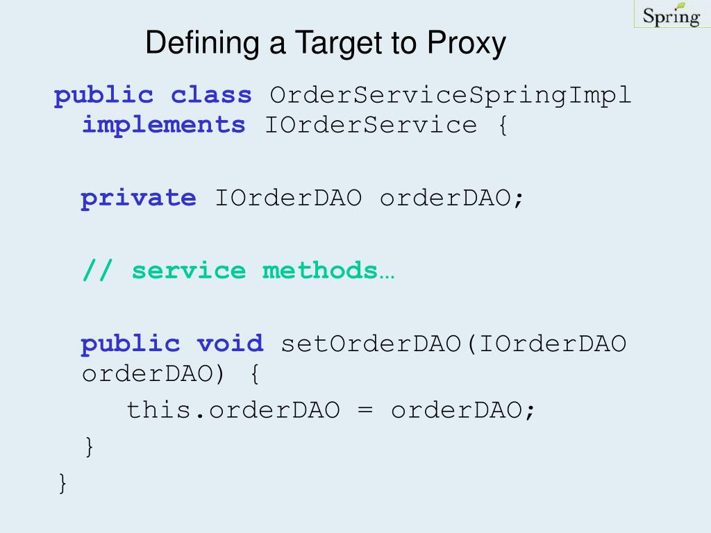 Defining a Target to Proxy