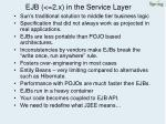 ejb 2 x in the service layer