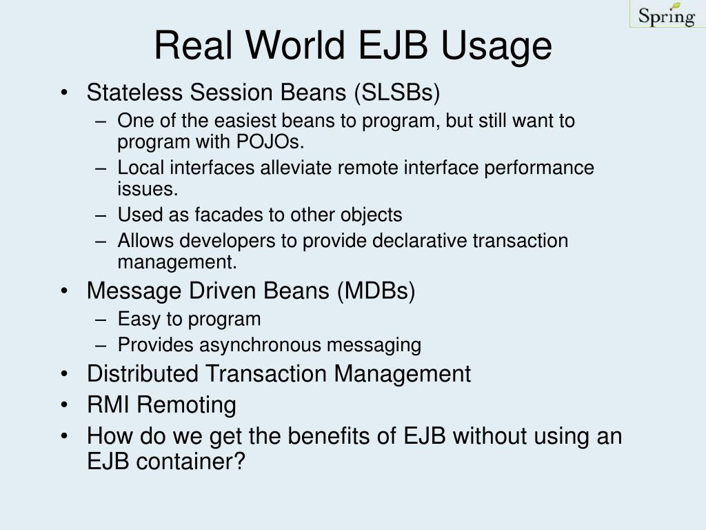 Real World EJB Usage