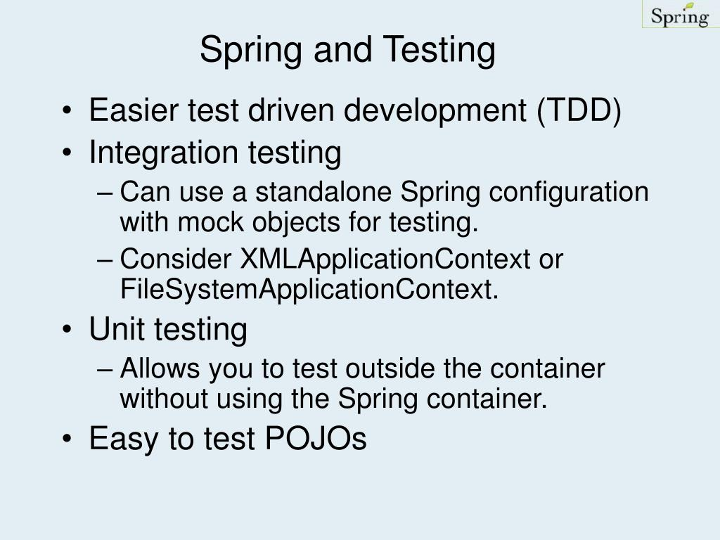 Spring and Testing