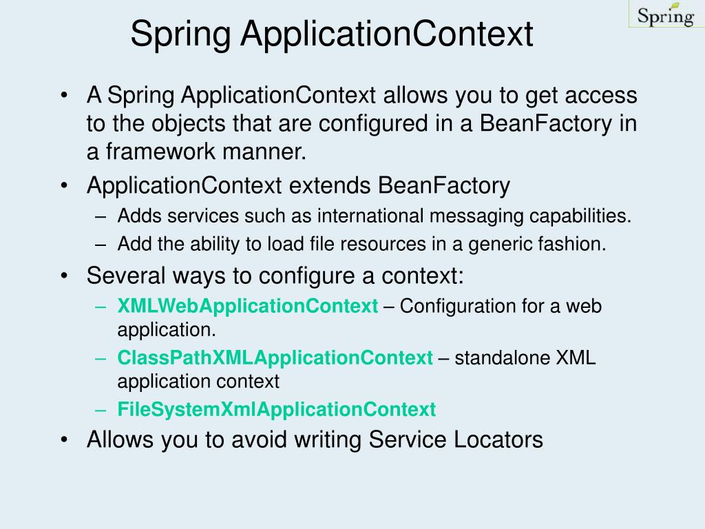 Spring ApplicationContext