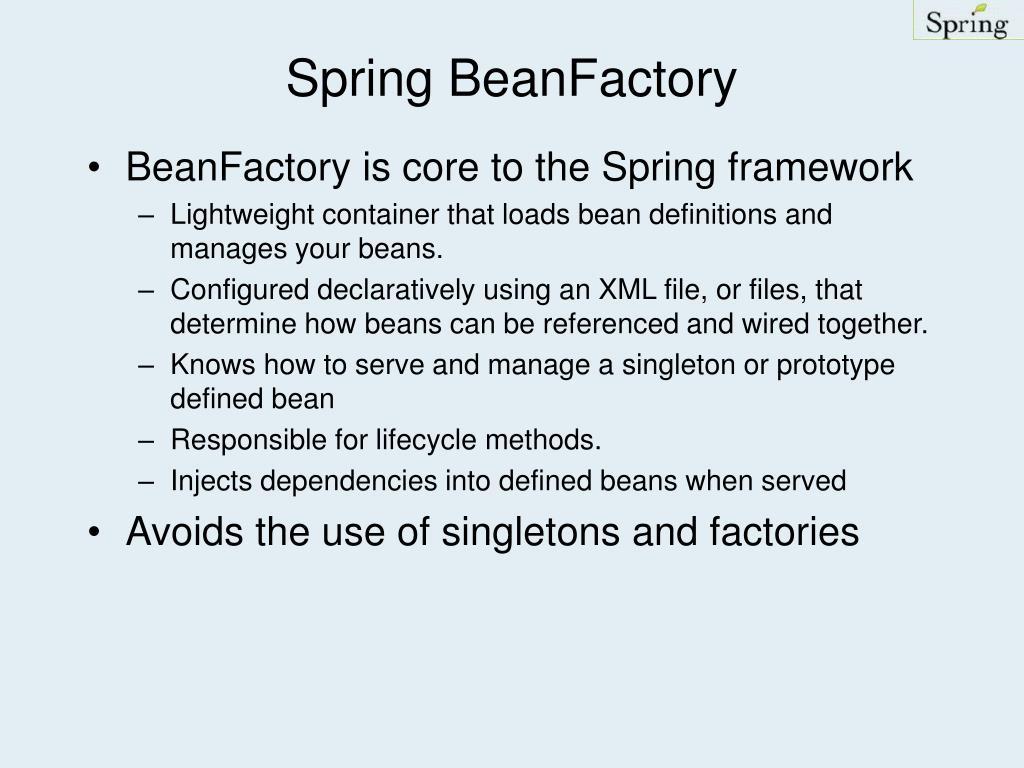 Spring BeanFactory