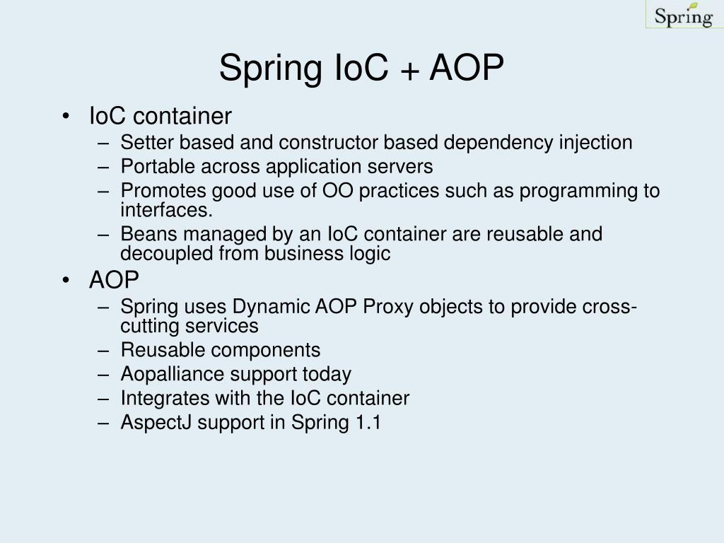 Spring IoC + AOP