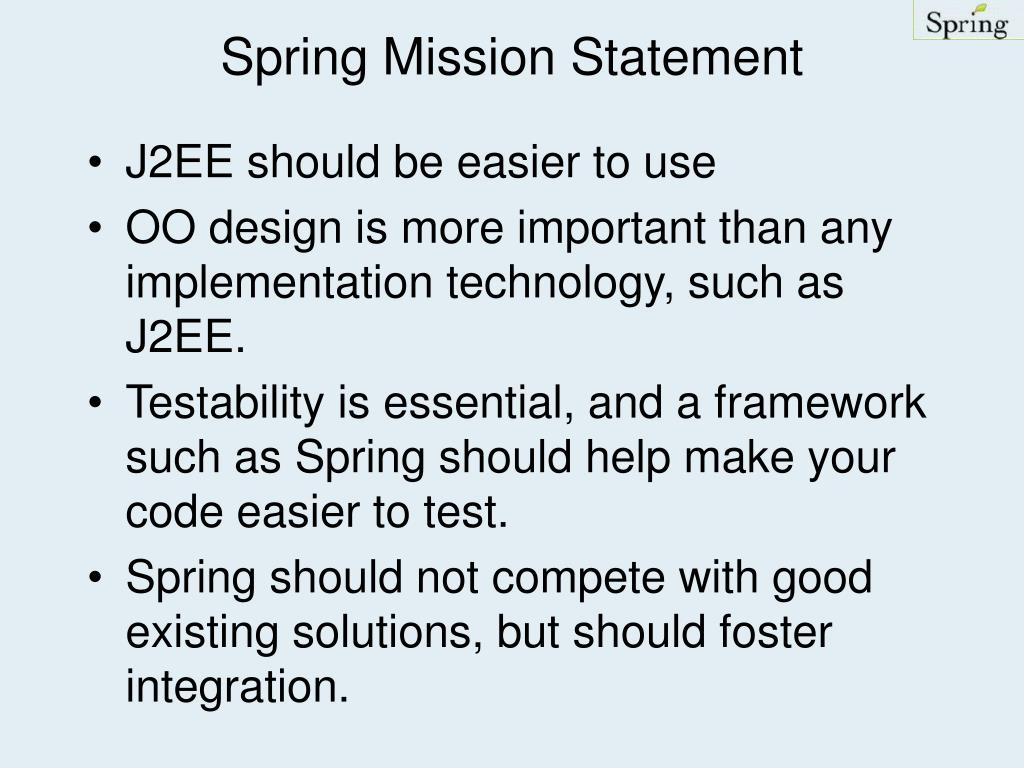 Spring Mission Statement