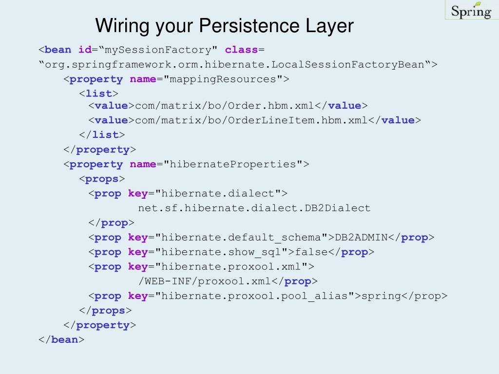 Wiring your Persistence Layer
