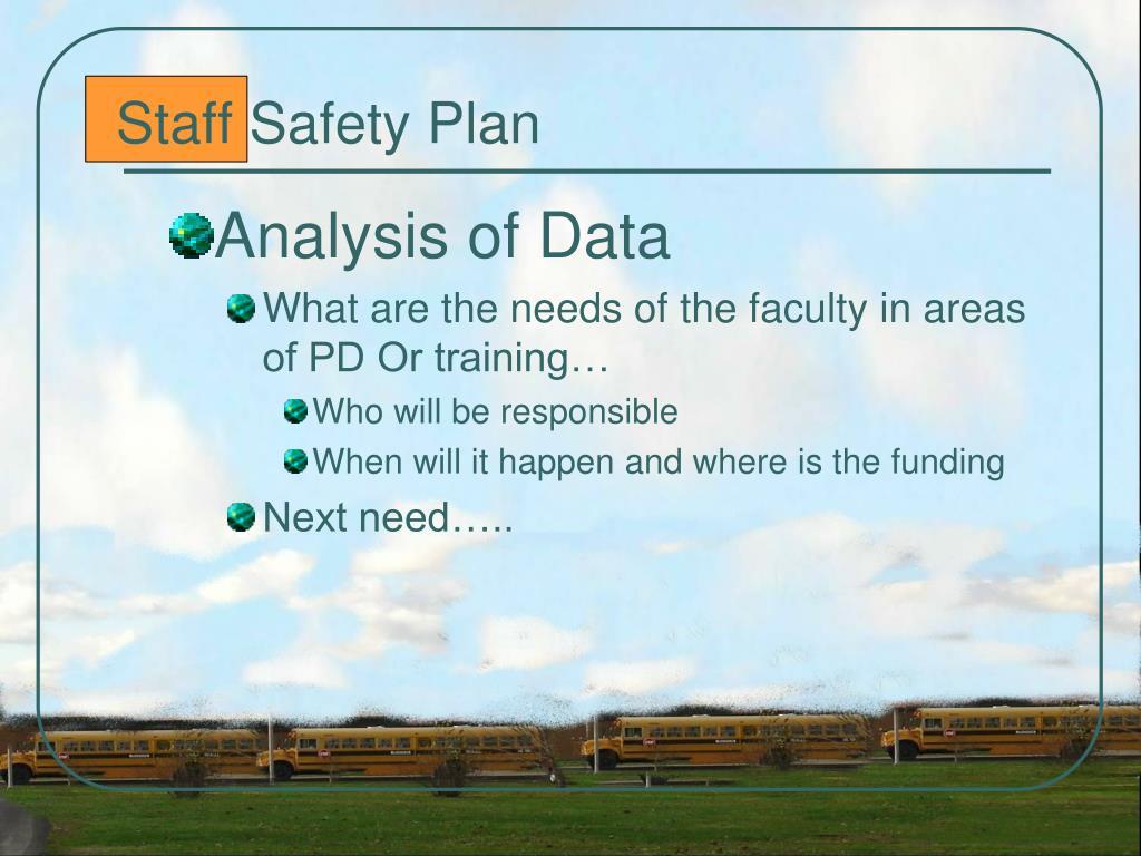 Staff Safety Plan