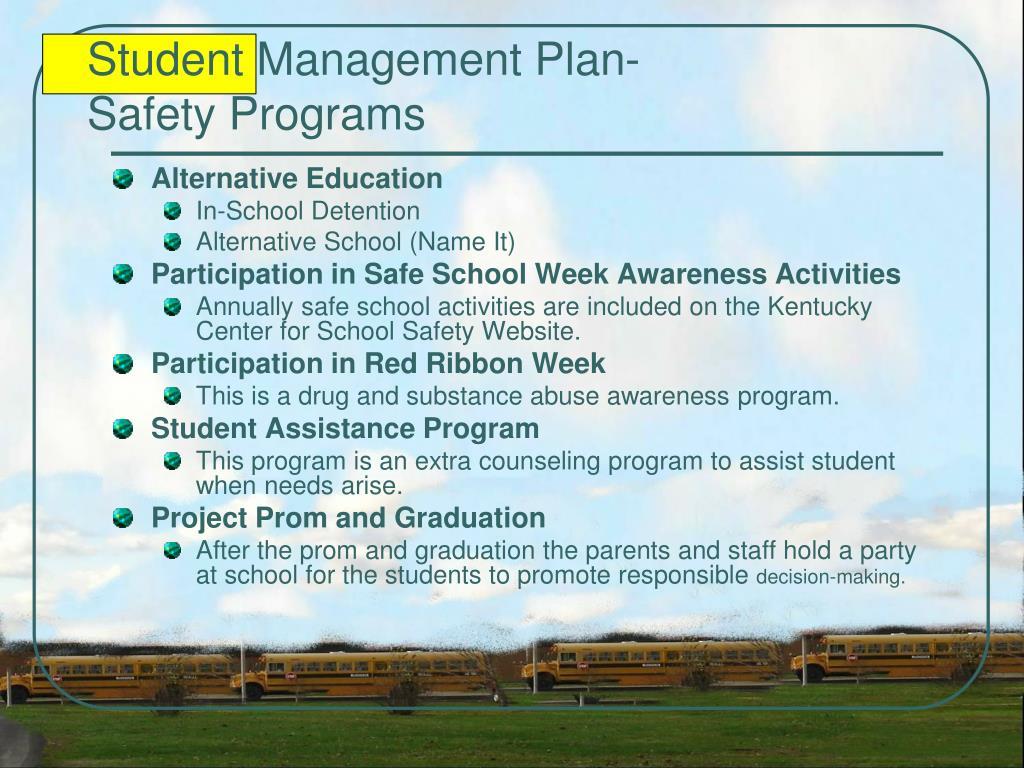 Student Management Plan-