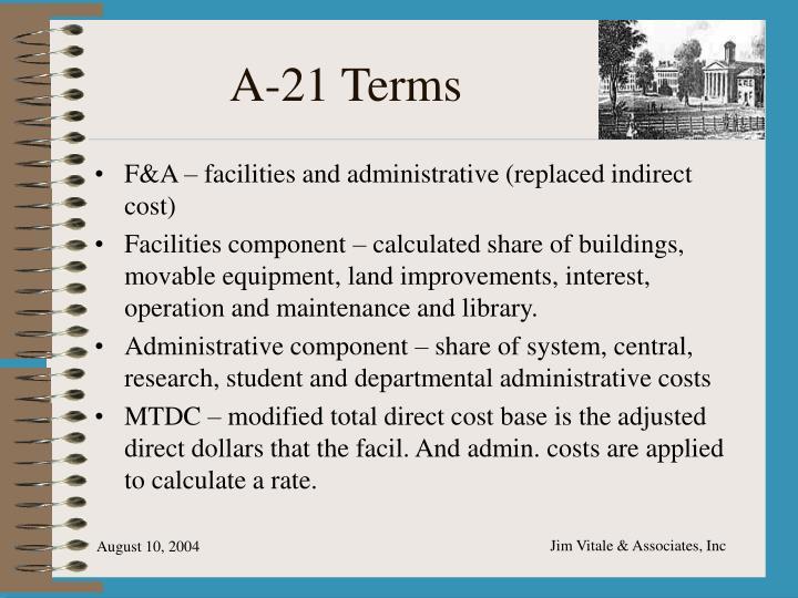 A-21 Terms