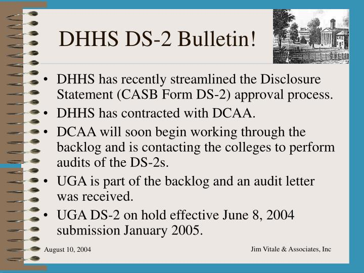 DHHS DS-2 Bulletin!