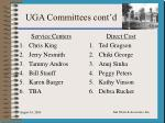 uga committees cont d