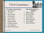 uga committees