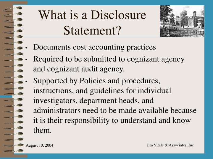What is a Disclosure Statement?