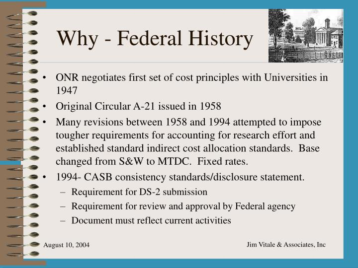 Why - Federal History