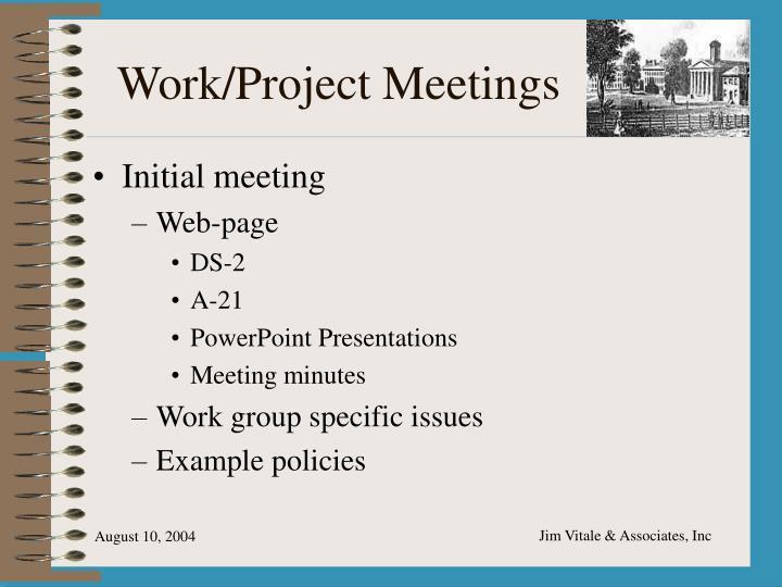 Work/Project Meetings