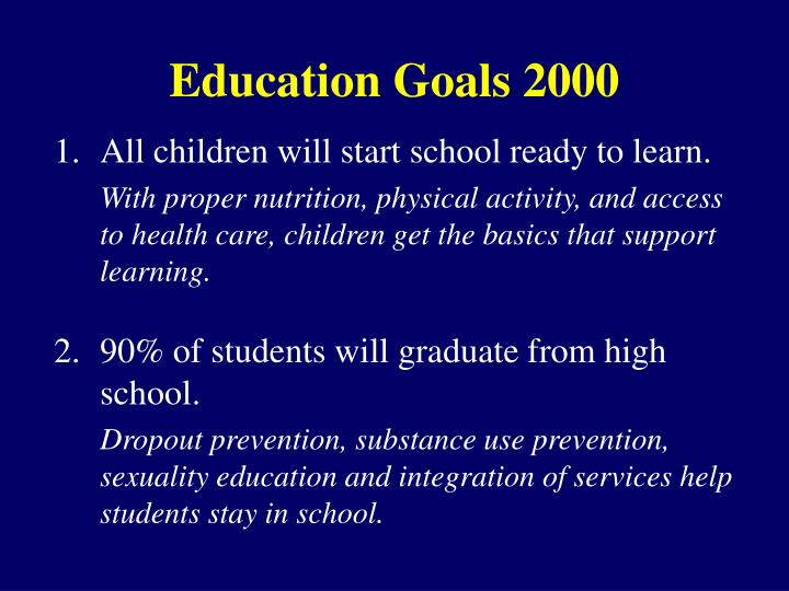 Education goals 2000