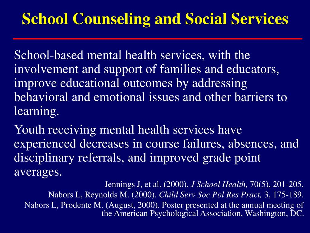School Counseling and Social Services