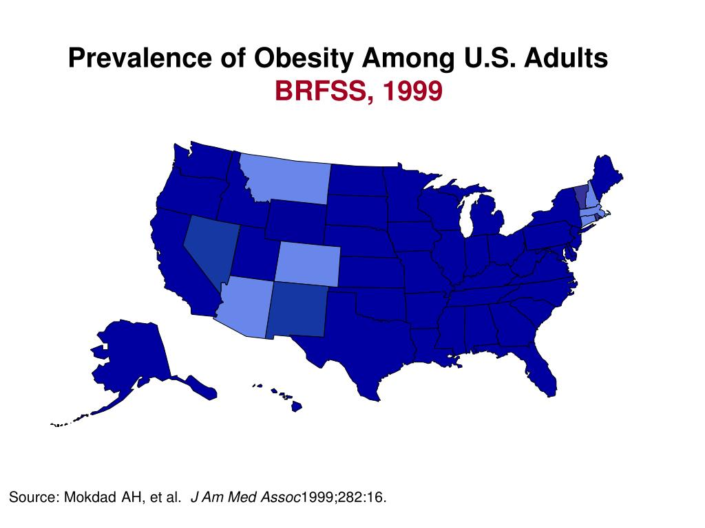 Prevalence of Obesity Among U.S. Adults