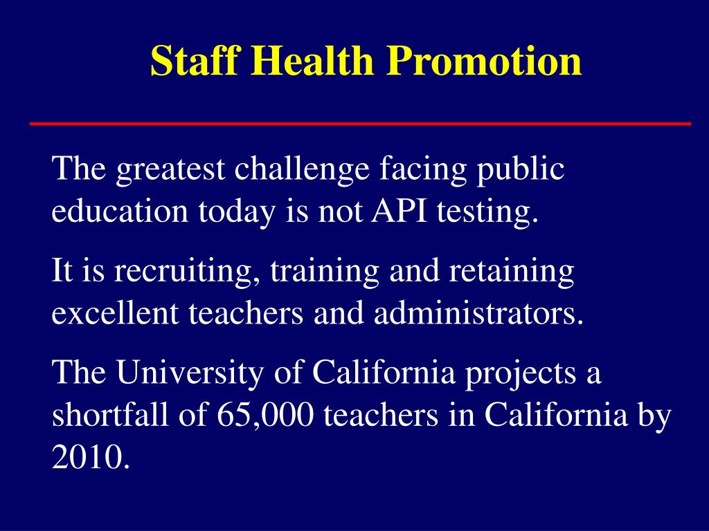 Staff Health Promotion