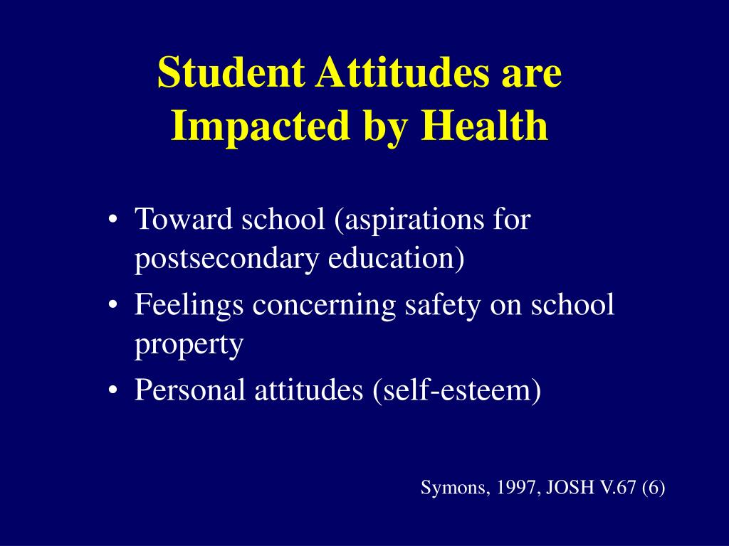 Student Attitudes are Impacted by Health
