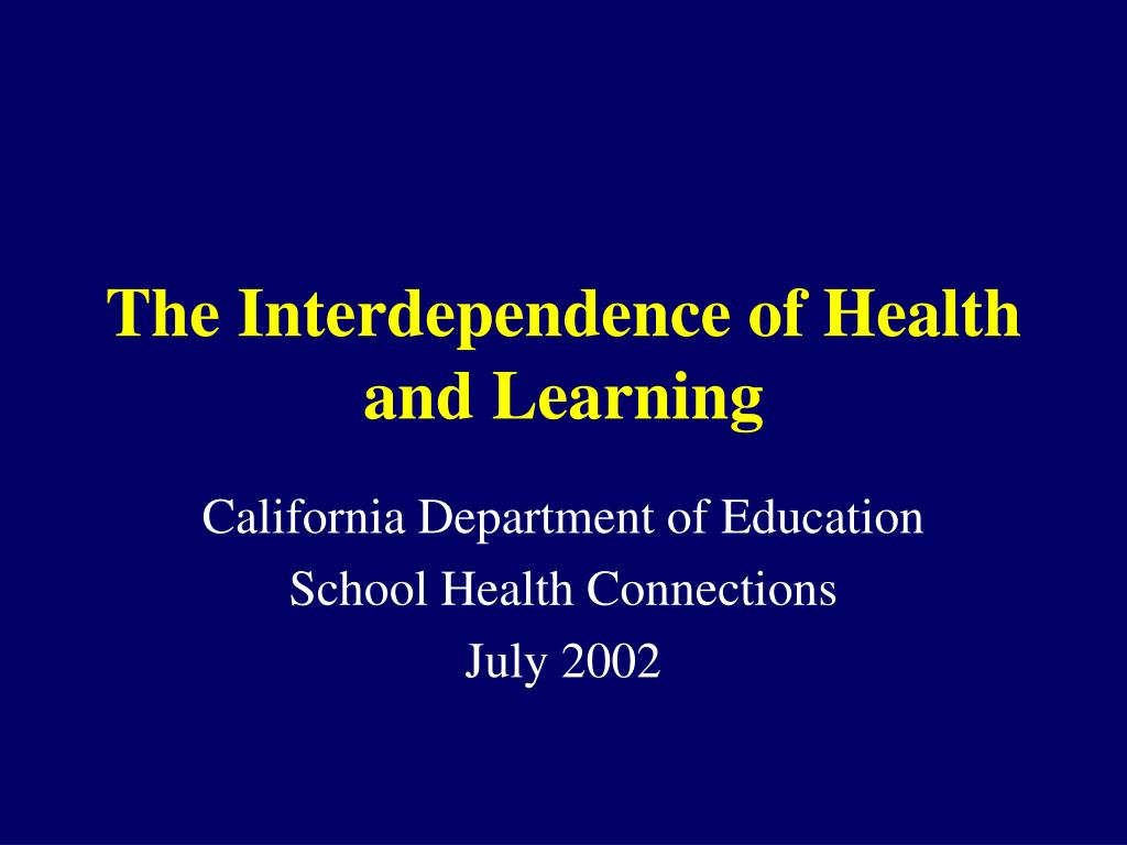 The Interdependence of Health and Learning