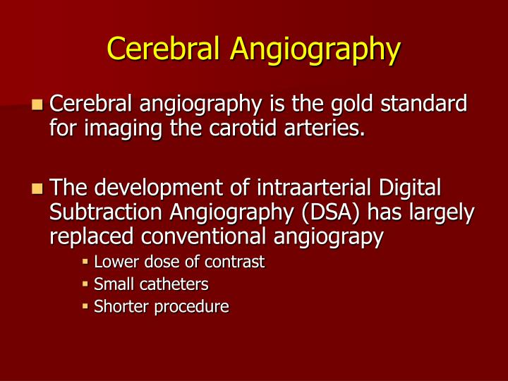 Cerebral Angiography