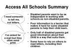 access all schools summary