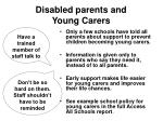 disabled parents and young carers