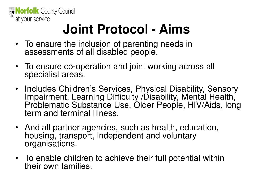 Joint Protocol - Aims