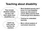 teaching about disability