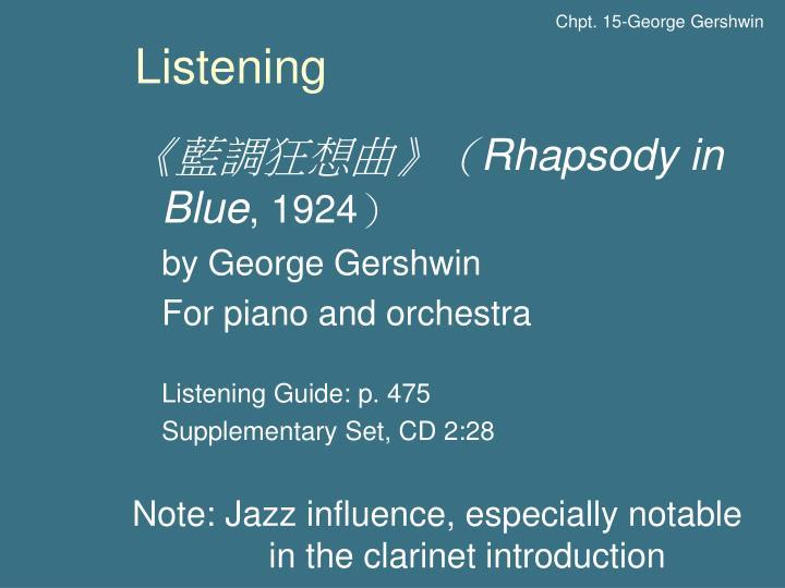 Chpt. 15-George Gershwin