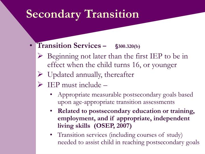 Secondary transition3