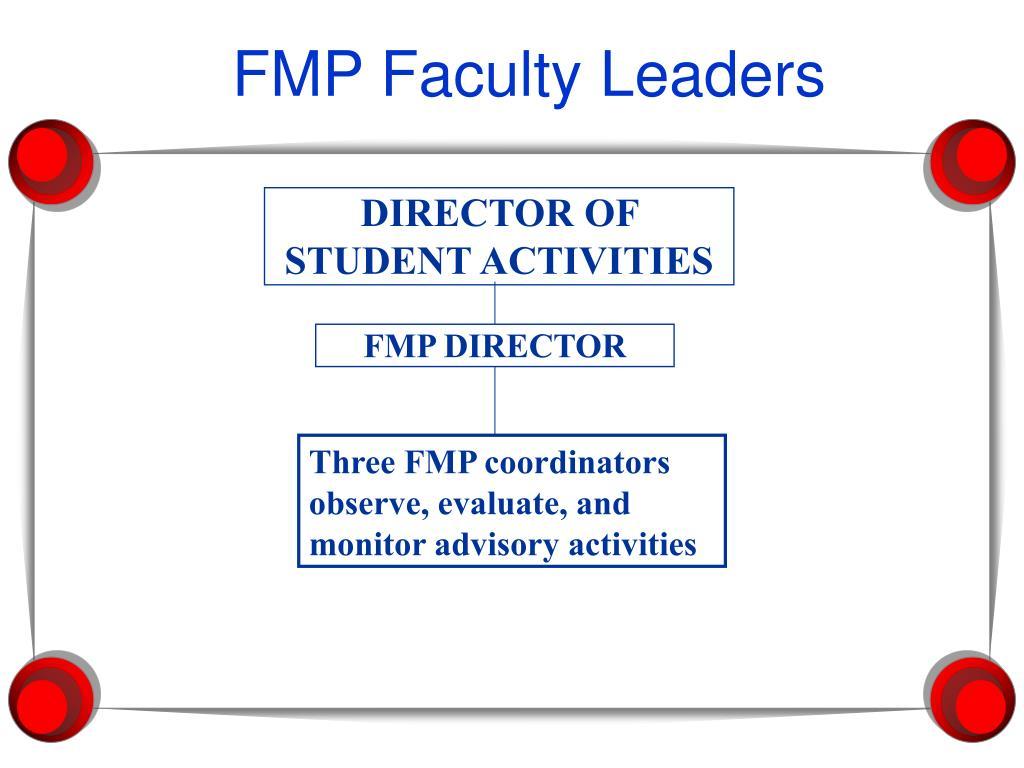 FMP Faculty Leaders