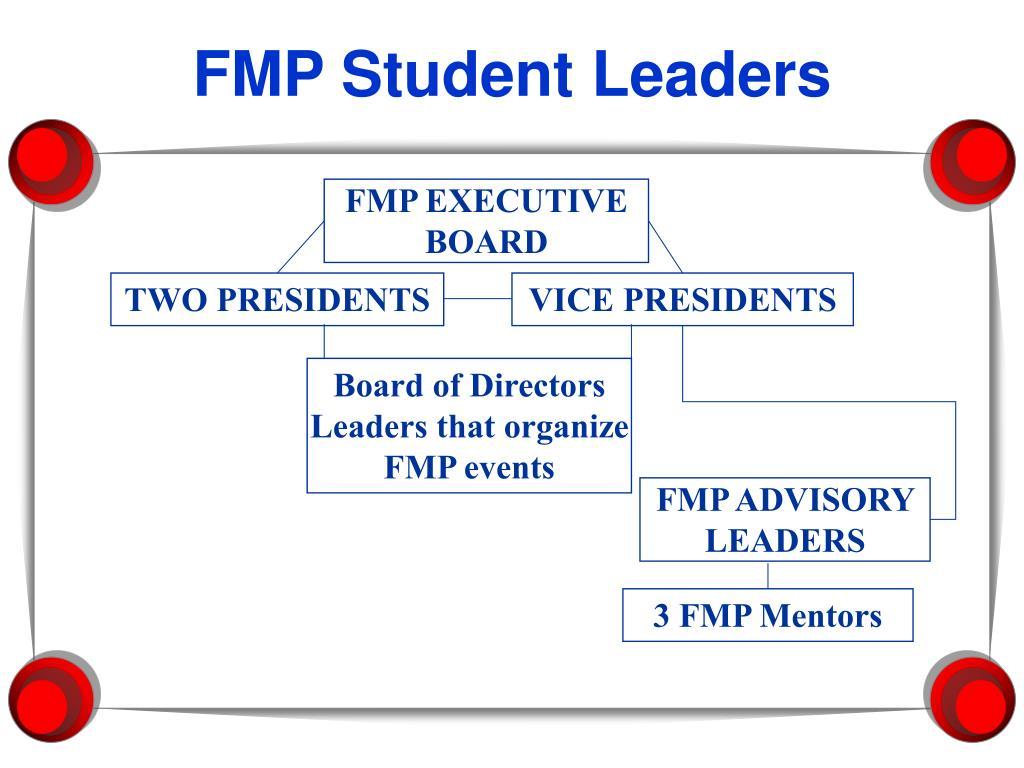 FMP Student Leaders