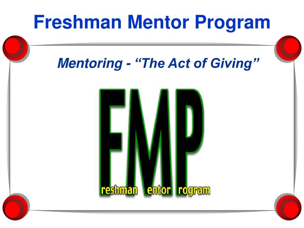 Freshman Mentor Program