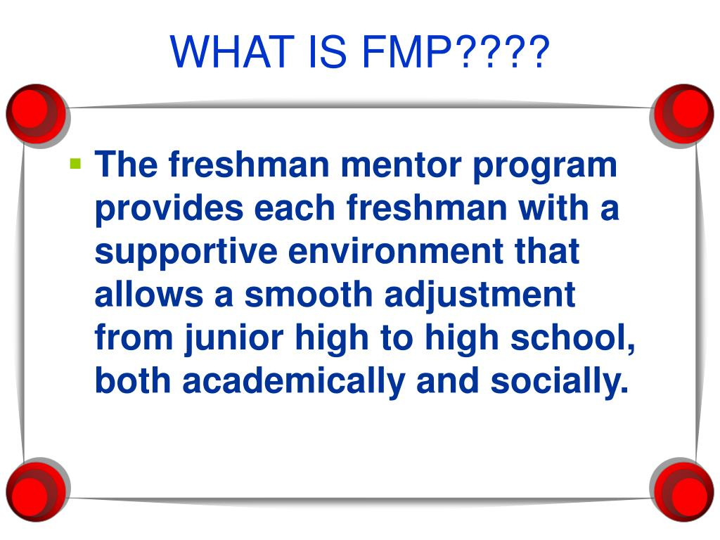 WHAT IS FMP????