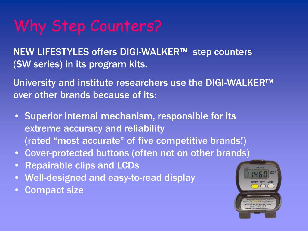 Why Step Counters?